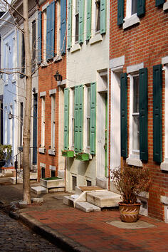 Rowhouses in City Center of Philadelphia, Choice Neighborhoods Grant Winner 2014