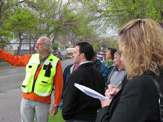 Walking audit with civic innovator Dan Burden