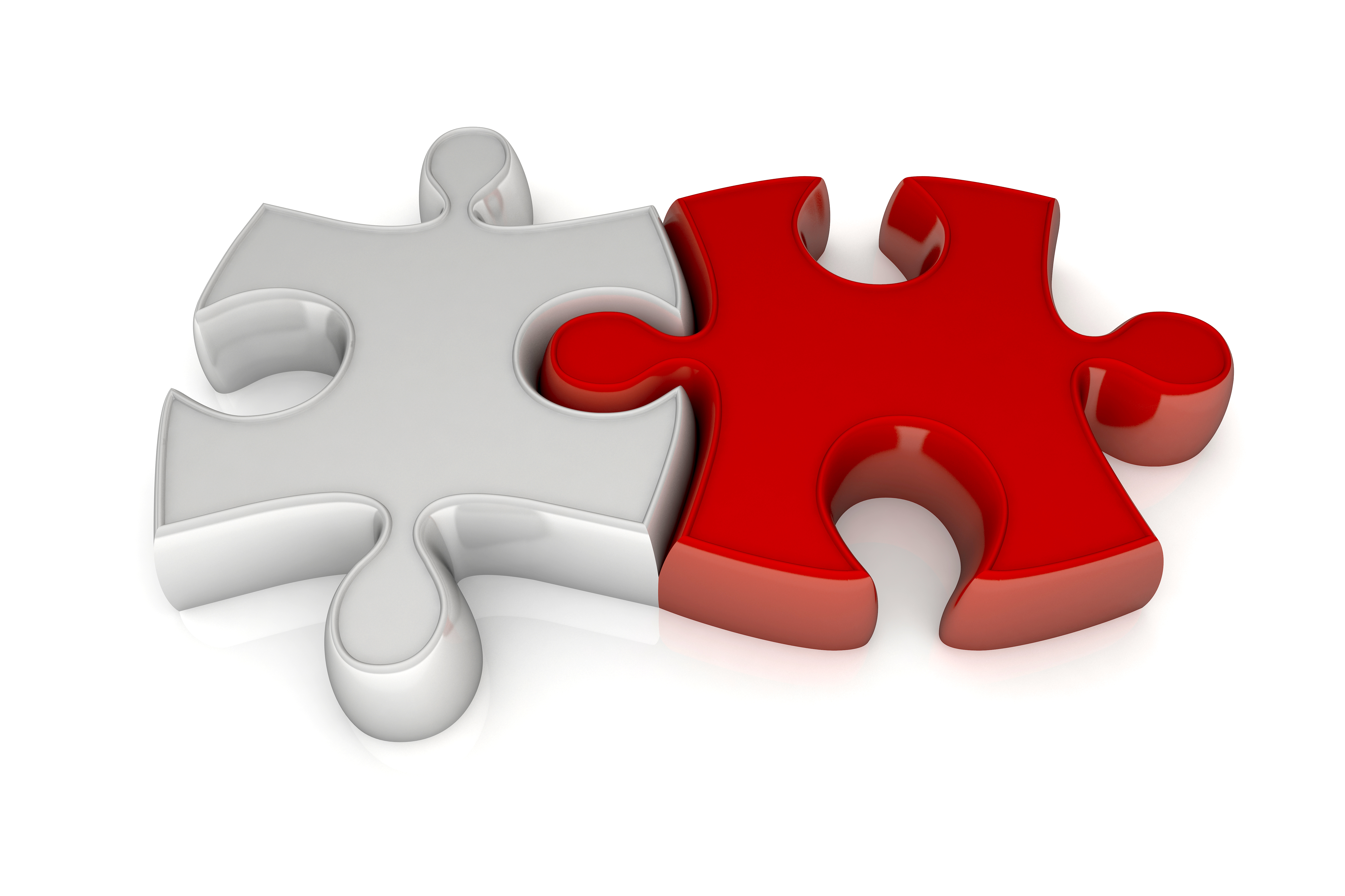 pass-through grants and collaboration represented by joined red and white puzzle pieces