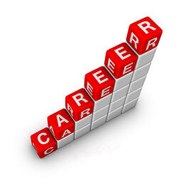 "Building blocks spelling ""Career"""