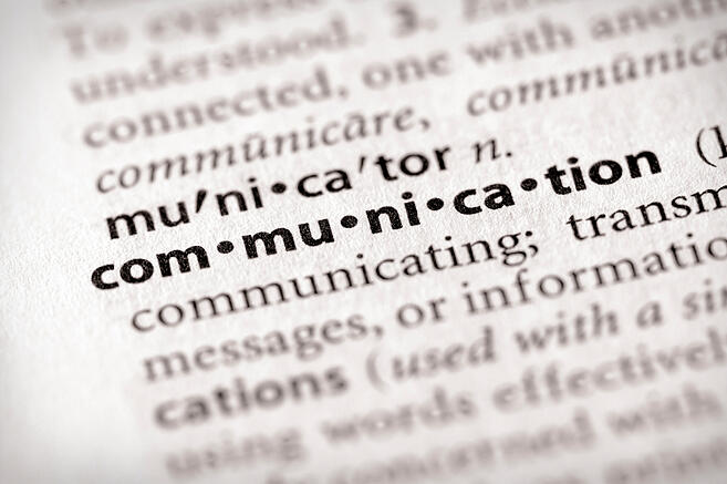 "The word ""communication"" in a dictionary, used to represent communication tips for grantors, grantees, and subgrantees"
