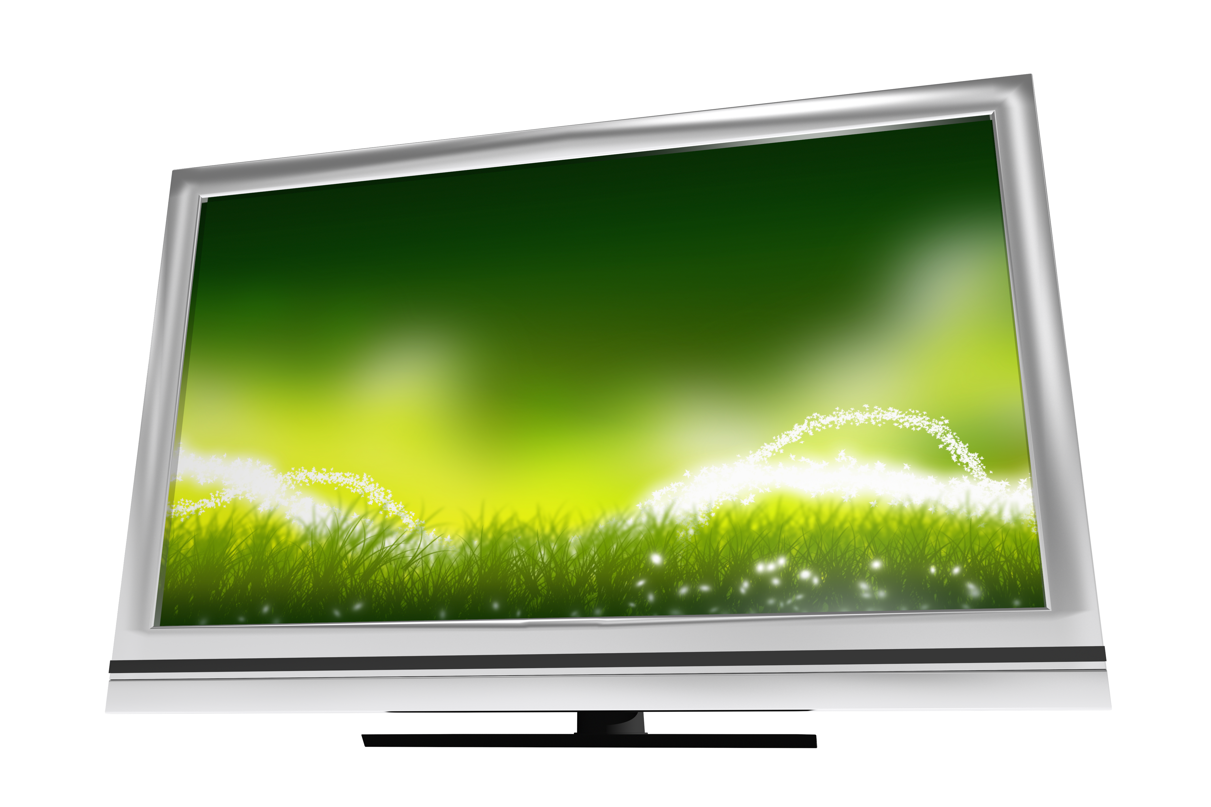 Grass on Computer Screen in an Article About Broadband for Rural Areas Grant