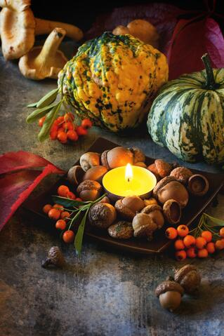 Fall Candle in an Article About Food Resources, Food Grants and Food Funding