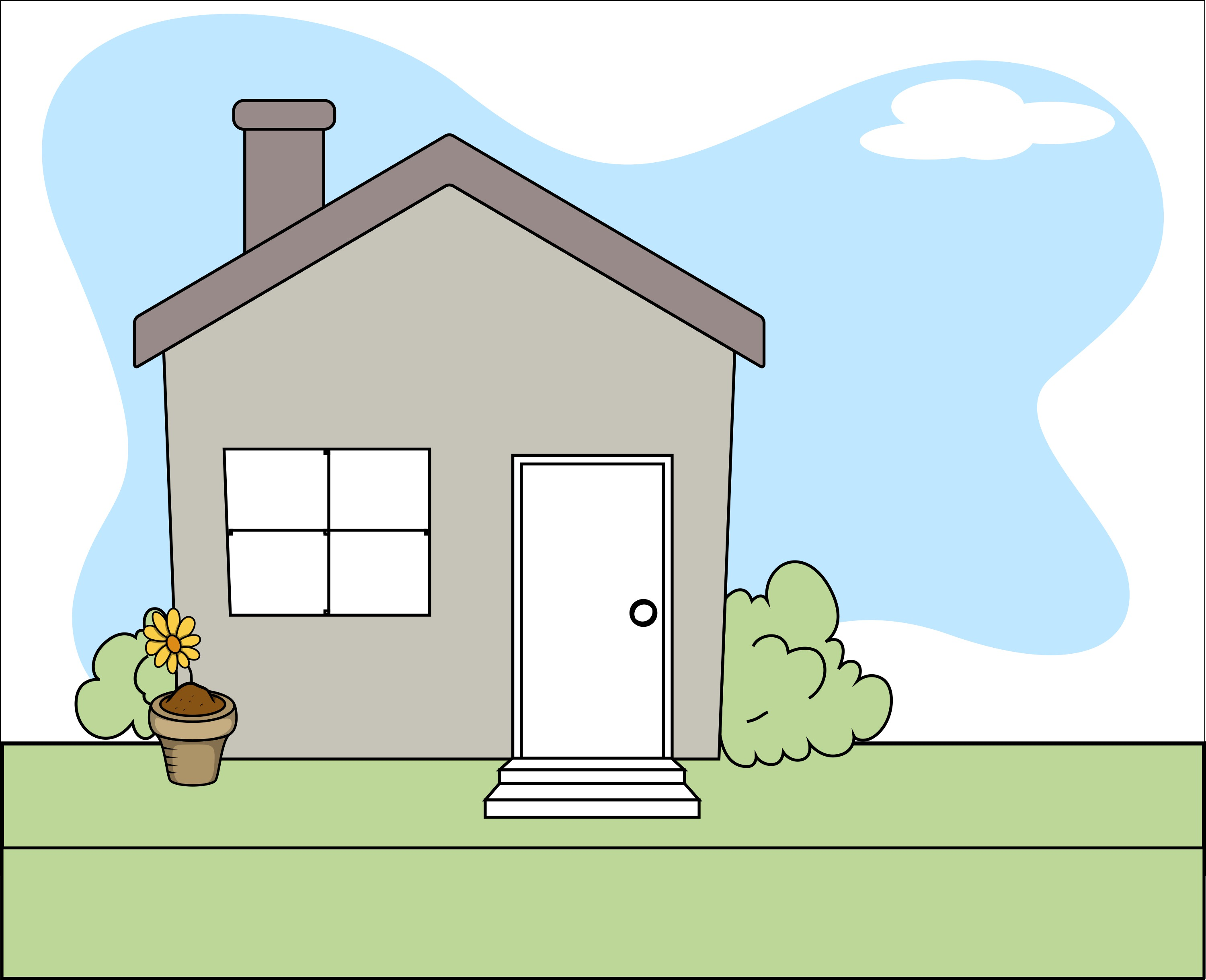 Cartoon House in an Article About Grants to Reduce Lead Paint Hazards