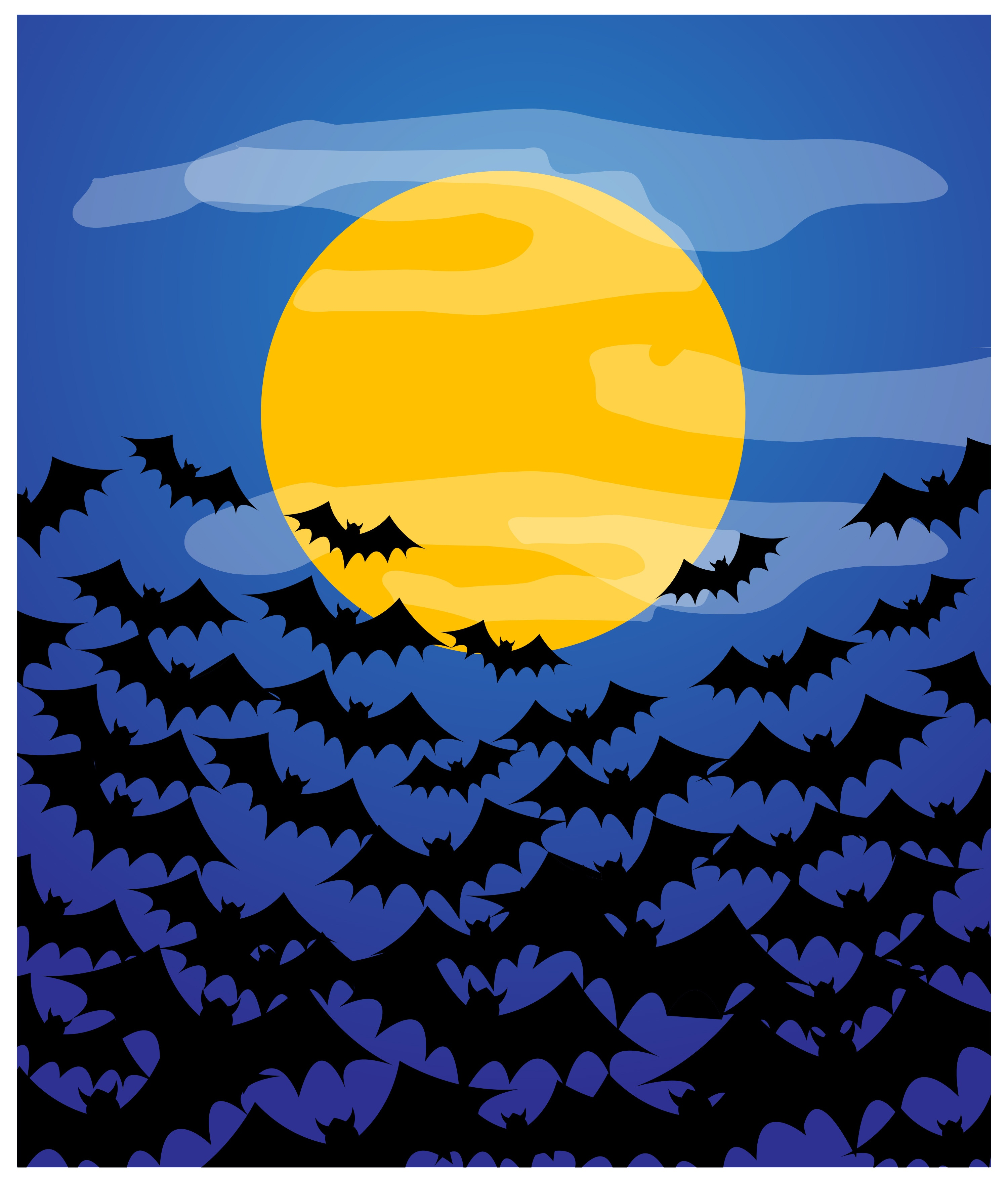 Bats Flying Over the Moon in an Article About Funding to Save the Bats