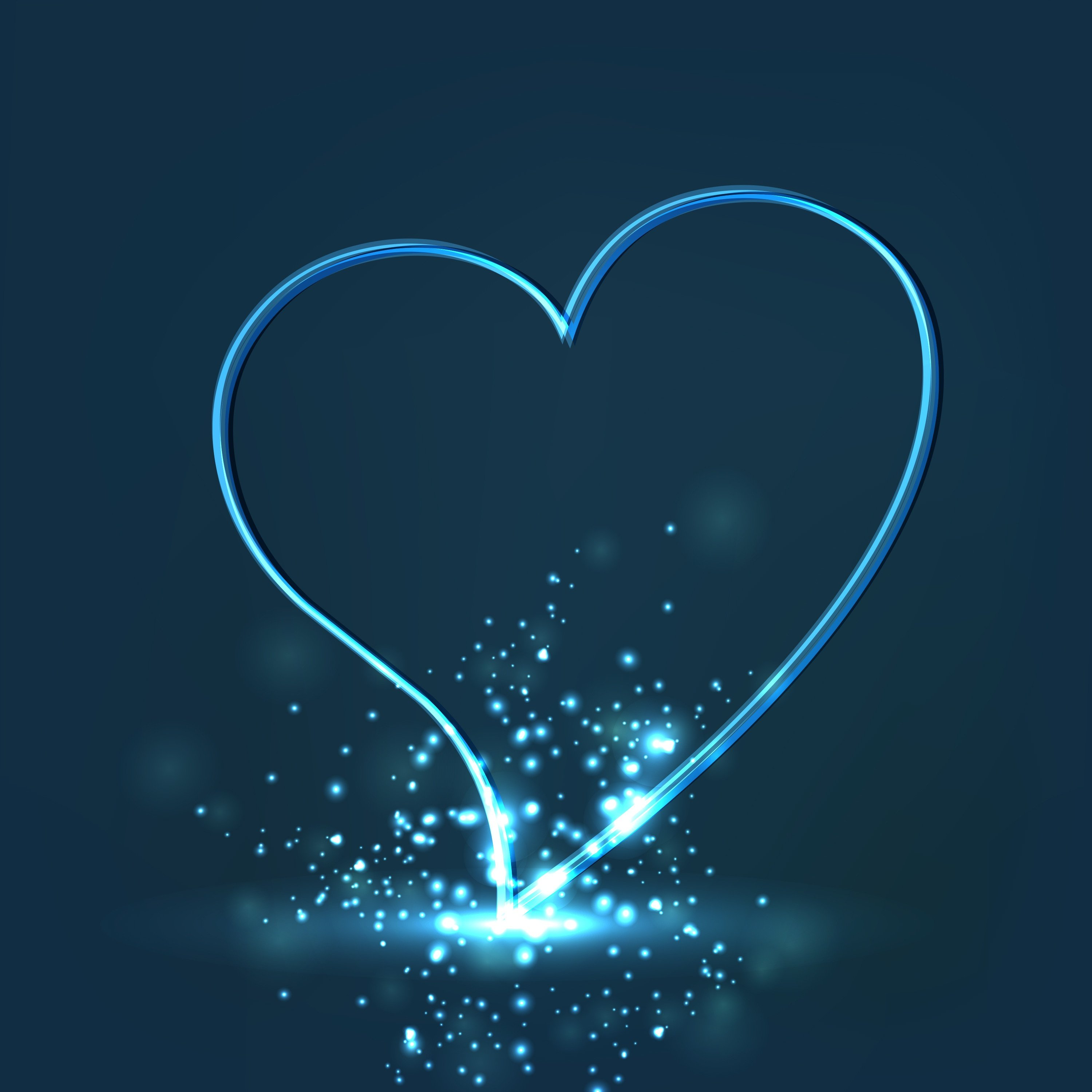 Shiny Blue Heart in Article on Trafficking within the Child Welfare Population