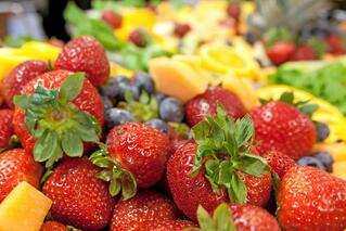 Strawberry Plate in an Article About Grants for Farmers Markets