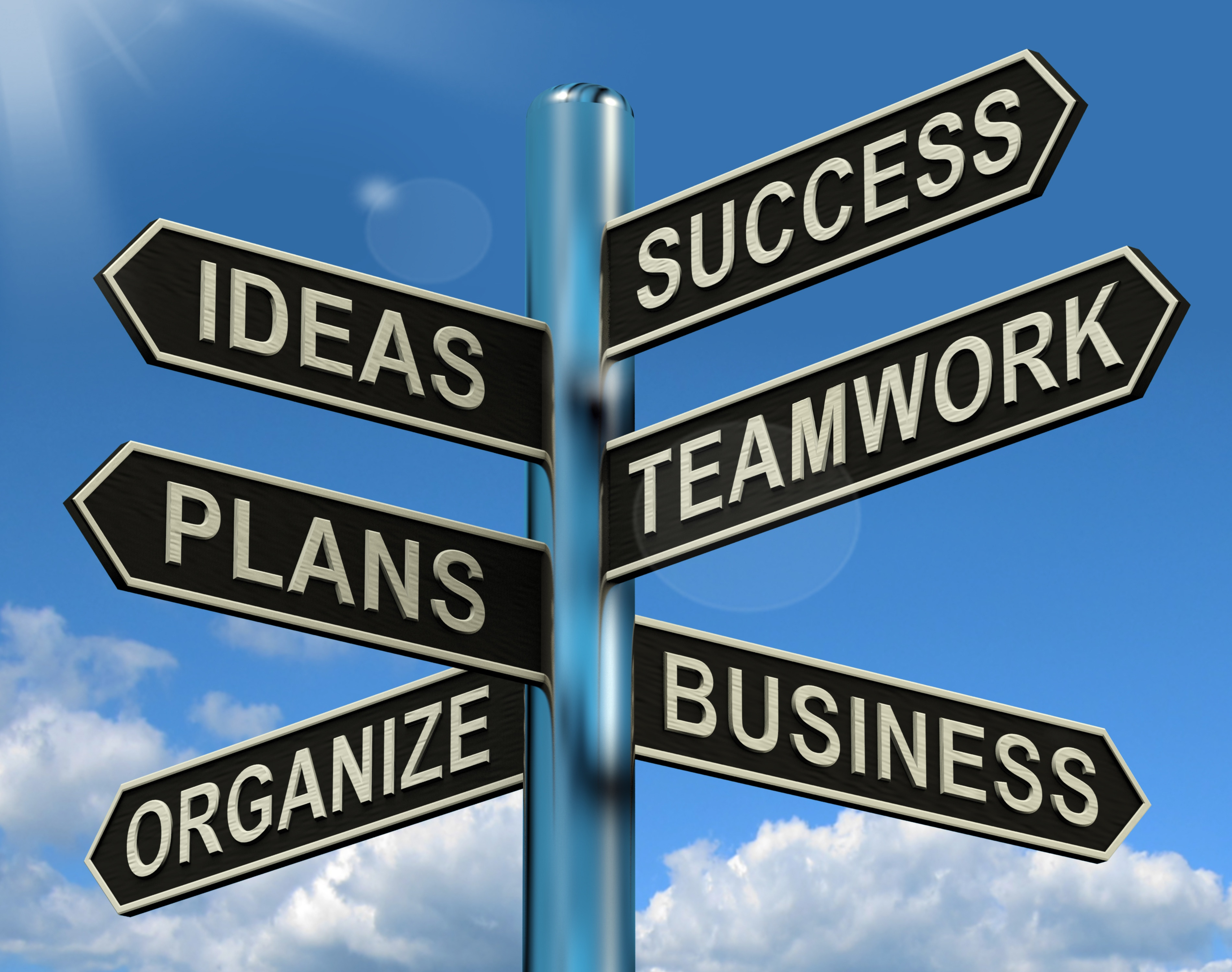 Success Signpost in an Article About Collaboration for Local Government