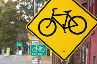 Bike Path in an Article About Bike Grants and the Big Jump Project