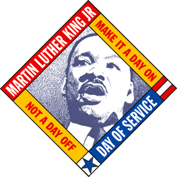 Martin Luther King Jr. National Day of Service Logo in an Article About the CNCS MLK Day Grant