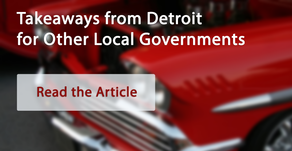 Detroit Change Management Lessons for Local Governments
