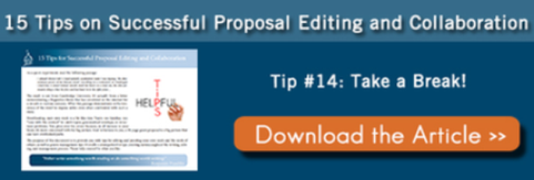15 Tips for Editing and Collaborating on a Grant Proposal